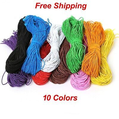 $ CDN6.37 • Buy 1mm 25 Yards Round Elastic Cord String For Bracelets, Necklace, Beading