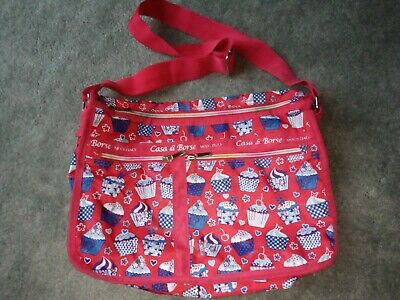 Casa Di Borse Cupcake Edition Red Blue Messenger Style Satchel Bag   • 12£