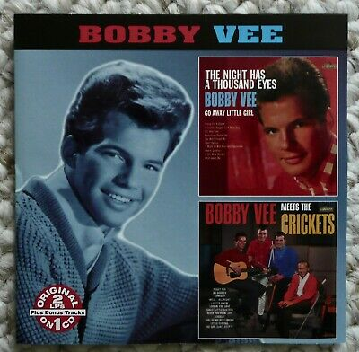 $7.50 • Buy Bobby Vee  Double Album CD  The Night Has A Thousand Eyes / Meets The Crickets
