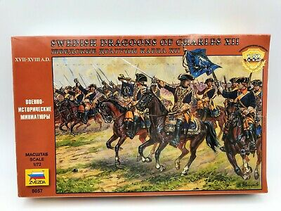 Zvezda 1/72 Swedish Dragoons Of Charles XII #8057 Unpainted Soldiers 2008  • 10.85£