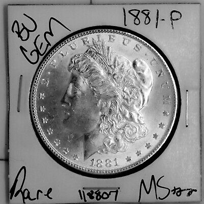 $20.50 • Buy 1881 GEM Morgan Silver Dollar #118807 BU MS+++ UNC Coin Free Shipping
