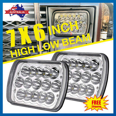 AU45.99 • Buy Pair 7'' Inch LED Headlights Hi/Lo Sealed Beam DRL Headlamps F/ Jeep Cherokee XJ
