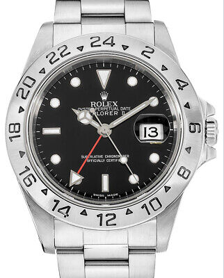 $ CDN9849.85 • Buy Rolex Explorer II Stainless Steel Black Dial Mens 40mm Automatic Watch F 16570