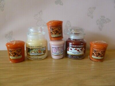 YANKEE CANDLE Christmas Cookie-Berry Trifle-Cinnamon Stick-Snowflake Cookie New • 21£