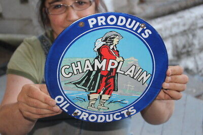 $ CDN13.55 • Buy Champlain Oil Products Gas Station Porcelain Metal Sign