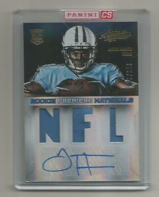 $3 • Buy 2013 Absolute Football - 216 Justin Hunter RC - Premier Materials Auto 225/299