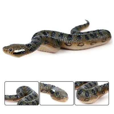 Fake Realistic Rubber Toy Snake North Us Green Scary Anaconda Halloween Props • 3£
