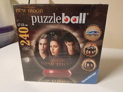 $9.98 • Buy Ravensburger Twilight New Moon 3D Puzzle Ball New 6  Ball 240 Pieces. Brand New.