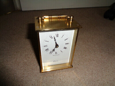 KIENZLE Battery-operated Brushed-Brass Quartz Carriage Clock • 17.99£