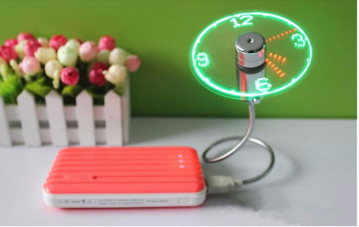AU23.10 • Buy Fan Portable Usb Mini LED Clock Hanging Cooling Time Display Air Cooler