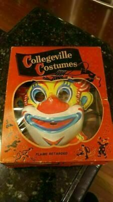 $ CDN73.83 • Buy Vintage Collegeville Halloween Clown #200 Costume Complete W/Box Child Small 4-6