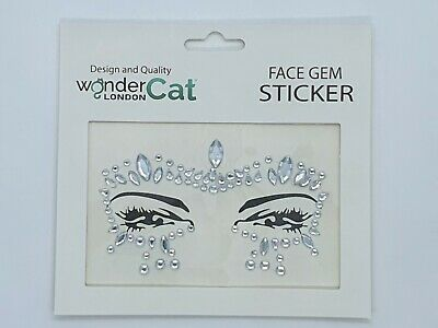 £2.89 • Buy Face Gems Adhesive Glitter Jewel Tattoo Sticker Festival Party Body Make Up (76)