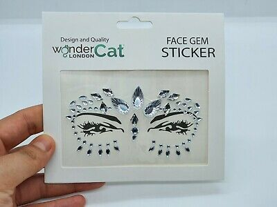 Face Gems Adhesive Glitter Jewel Tattoo Sticker Festival Party Body Make Up (73) • 2.99£