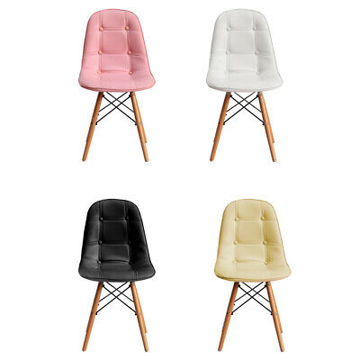 AU199.99 • Buy Levede 4x Retro Dining Chairs Leather Padded Seat Home Office Cafe Chair