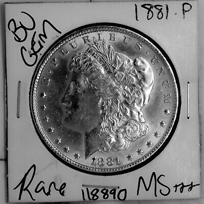 $16.38 • Buy 1881 GEM Morgan Silver Dollar #118890 BU MS+++ UNC Coin Free Shipping