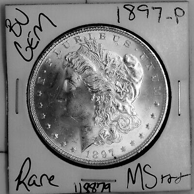 $20.50 • Buy 1897 GEM Morgan Silver Dollar #118879 BU MS+++ UNC Coin Free Shipping