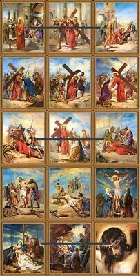 14 Stations Of The Cross Reproduction Print Framed  • 12.99£