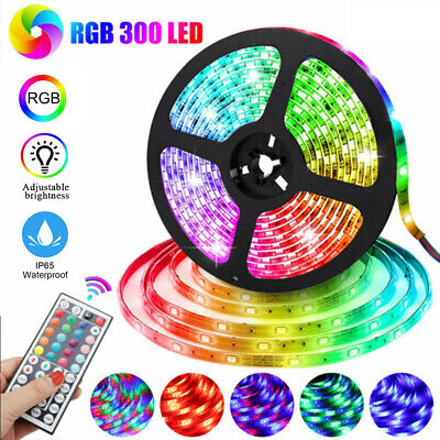 $10.29 • Buy Waterproof Flexible Strip Light RGB LED SMD Remote Fairy Lights Room Party Bar