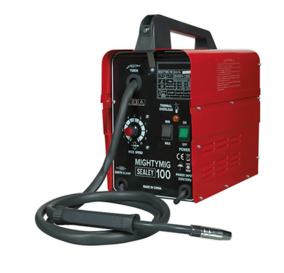 New Sealey MIGHTYMIG100 No Gas MIG Welder 100 Amp 230v Electric Gasless Wire  • 138.99£