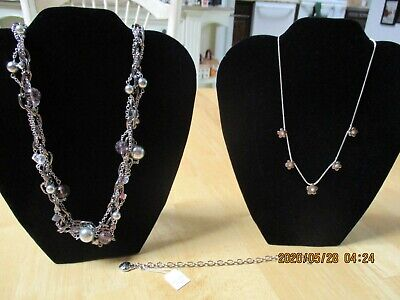 $ CDN24.44 • Buy Lot Of 2 Lia Sophia Jewelry Necklaces & 1 Bracelet All New With Tag