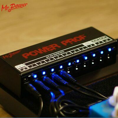 $ CDN117.31 • Buy Guitar Effect Pedals Board Power Supply 10 Outputs (8 Way DC 9V & 1 Way DC 12V
