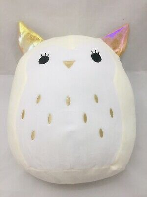 "$ CDN55 • Buy ❤️Squishmallows Vee The Owl 12"" Kellytoy, Iridescent & Gold Ears,New With Tags❤️"