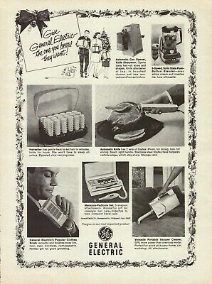 $ CDN48.67 • Buy 1968 General Electric Hairsetter Automatic Knife Can Opener Blender Print Ad
