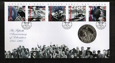 Guernsey 1995 50th Anniv Of Liberation £2 Coin Cover • 1.99£
