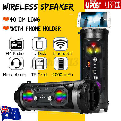 AU39.99 • Buy Portable Bluetooth Speakers Wireless Stereo Bass USB/TF/ Radio Subwoofer Outdoor
