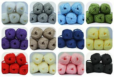 King Cole Premier Value Double Knit Yarn Wool Acrylic Value Pack (5 X 50G) • 8.99£