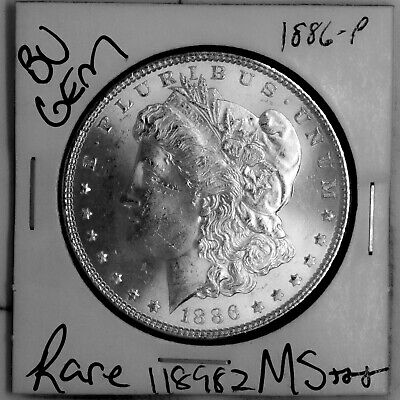 $0.99 • Buy 1886 GEM Morgan Silver Dollar #118982 BU MS+++ UNC Coin Free Shipping