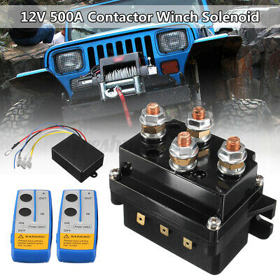 AU54.71 • Buy 12V 500A Contactor Winch Control Solenoid Relay/Twin Wireless Remote & Cover