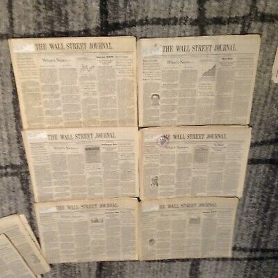 $10 • Buy 1996 Wall Street Journal Random Dates July And August