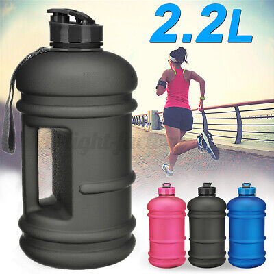 AU19.58 • Buy Frosted 2.2L BPA Free Sport Gym Training Drink Water Bottle Workout Camping  !*