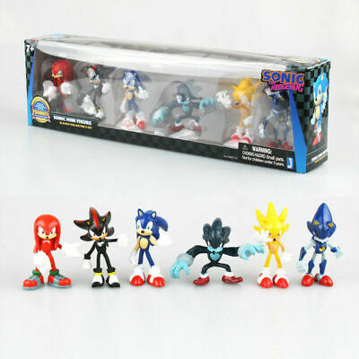 New 6PCS Sega Sonic The Hedgehog PVC Action Figure Collection Toys Kids Gifts • 14.99£
