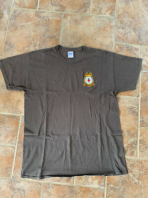 RAF Air Cadets   Air Training Corps ATC Khaki T Shirt Size Large L • 9.99£
