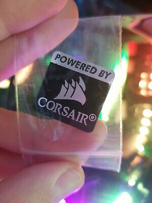 Powered By Corsair Sticker PC Badge Metal, Weighted, New In Bag • 5.48£