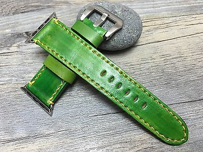 $ CDN95.88 • Buy Apple Watch 44mm 40mm Band Series 4 3 2 Green Leather
