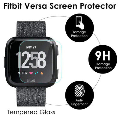 $ CDN5.95 • Buy HD Clear Cover Screen Tempered Glass Film Protector For Fitbit Versa Smart Watch