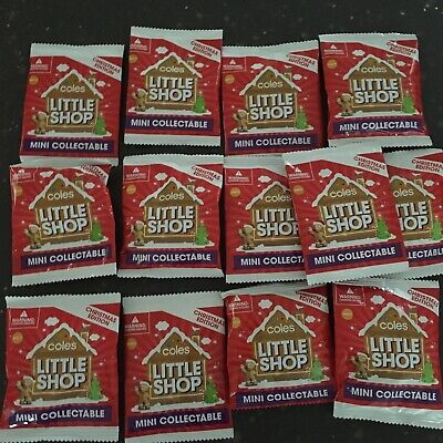 $5.55 • Buy 13 X Unopen Coles Little Shop Mini Collectables Christmas Edition - New In Pack