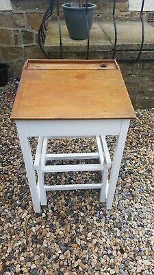 Vintage Wooden School Desk • 1£