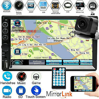 AU82.90 • Buy 7inch 2 Din Car Stereo MP5 Player Universal Radio MIRRORLINK For Android IOS GPS