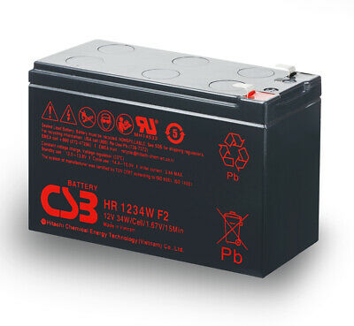 AU32.99 • Buy CSB 12v 9Ah 34W UPS High Rate Battery HR1234W F2 EATON APC OEM > 7Ah 7.2Ah 8Ah