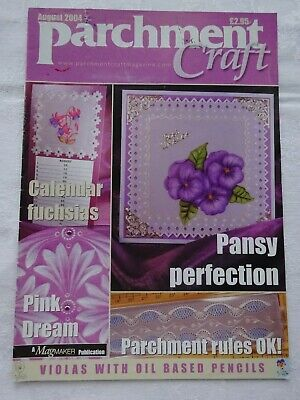 Parchment Craft  Magazine / Pattern Book   August  2004 • 1.75£