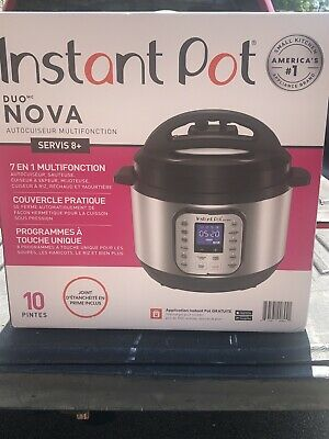 $51 • Buy Instant Pot - Duo NOVA 10-Quart Multi-Use Pressure Cooker - Stainless Steel New