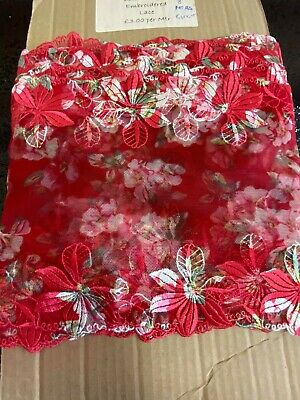 Embroidered Floral Double Sided Lace Tulle 8 Inch • 1.99£