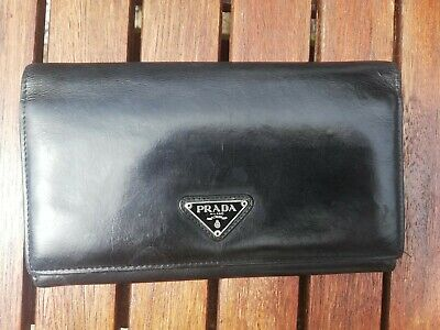 Authentic Prada Wallet Purse Clutch Genuine Leather Cards, Coins, Banknotes  • 55£