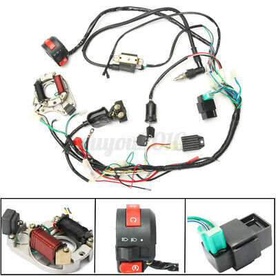 $30.54 • Buy CDI Wire Wiring Harness Assembly Kit ATV Electric Start QUAD 50 70 90 110CC