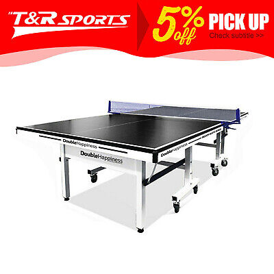 AU524.99 • Buy New 19mm Double Happiness Ping Pong Table Tennis Table Black Top