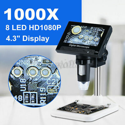 AU49.24 • Buy 1000X 4.3'' LCD Monitor Electronic Digital Video Microscope LED Magnifier Tools
